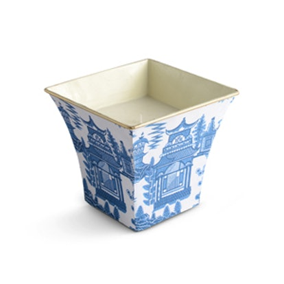 Blue Pagoda Cachepot Candle