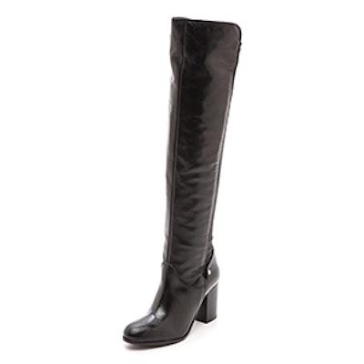 Wooden Knee High 50/50 Boots