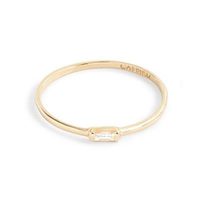 Catbird 14k Gold Diamond Baguette Ring