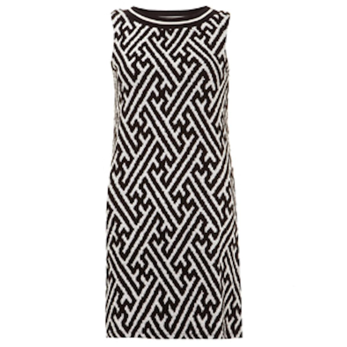 Black & Ivory Shift Dress