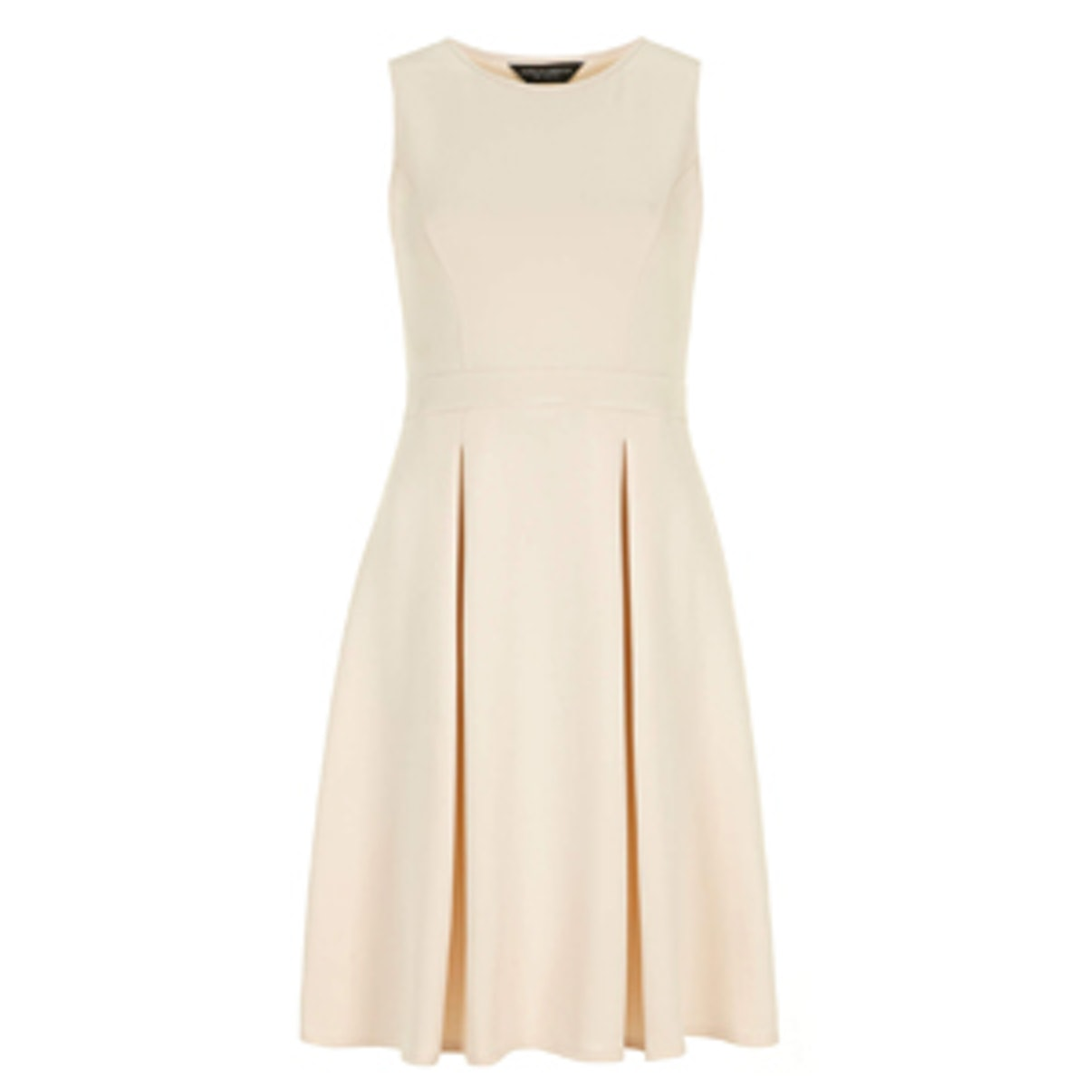 Nude Neoprene Midi Dress