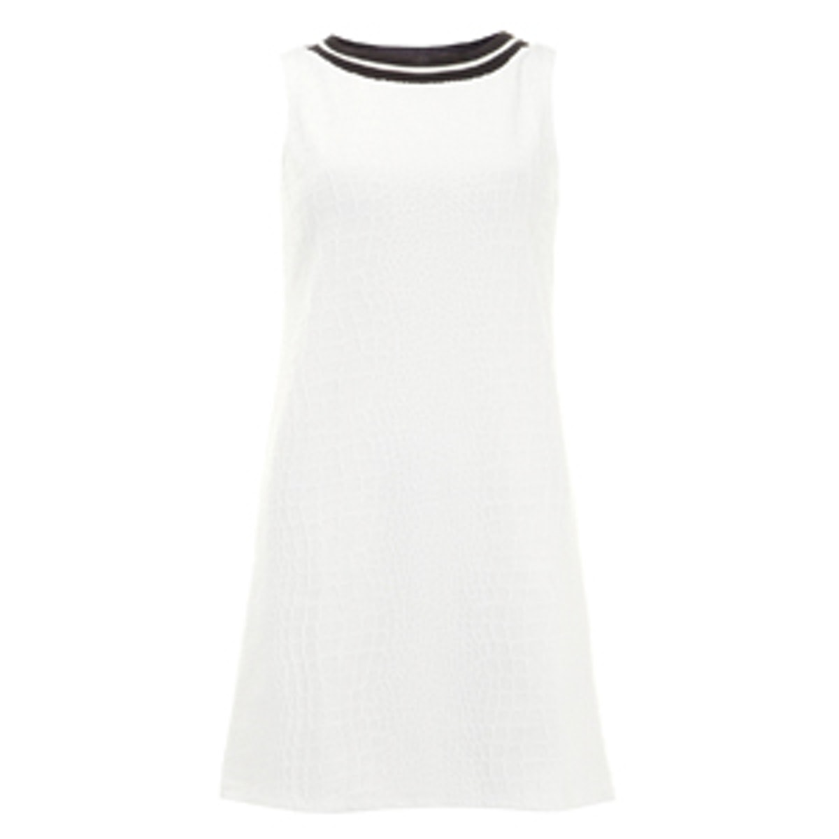 Ivory Textured Shift Dress
