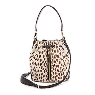 Cynnie Haircalf Mini Bucket Bag