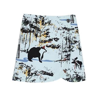 Forest Print Mini Skirt