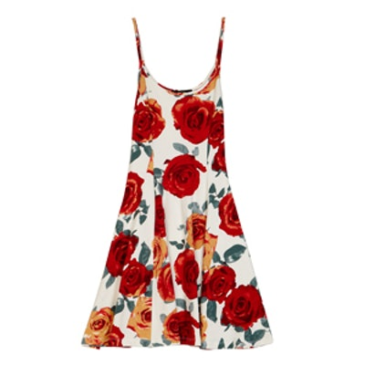 Rose Print Cami Dress