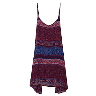 Printed Drop-Waist Cami Dress