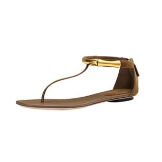 Coraline Bamboo Ankle-Wrap Thong Sandal