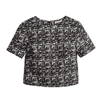 Jacquard-Weave Blouse