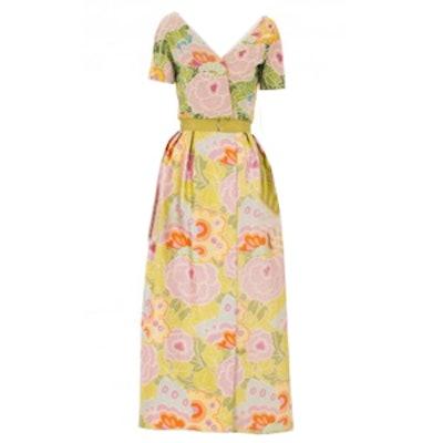 Short Sleeve Floral Dress Circa 1966