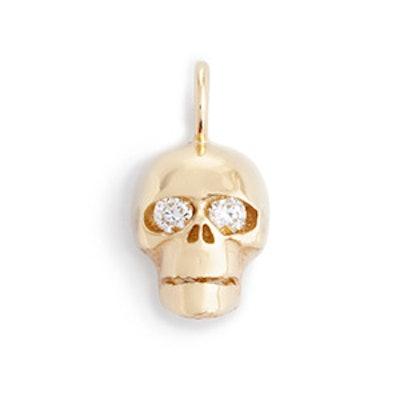 Jennifer Fisher 10k Gold Skull White Diamond Eye