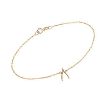 Gold Wishbone Bracelet