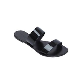 Patent Strap Flat Sandal