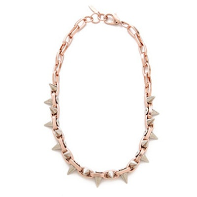 Luxe Double Spike Choker Necklace