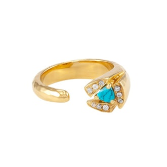 Tatum Ring in Gold Turquoise White