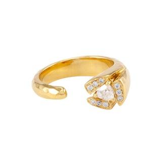 Tatum Ring in Gold White