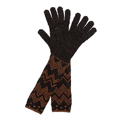 Polka Dot Zigzag Gloves