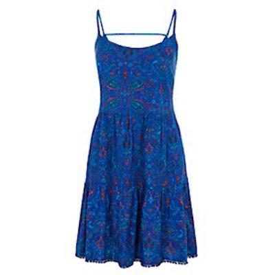 Blue Paisley Sun Dress