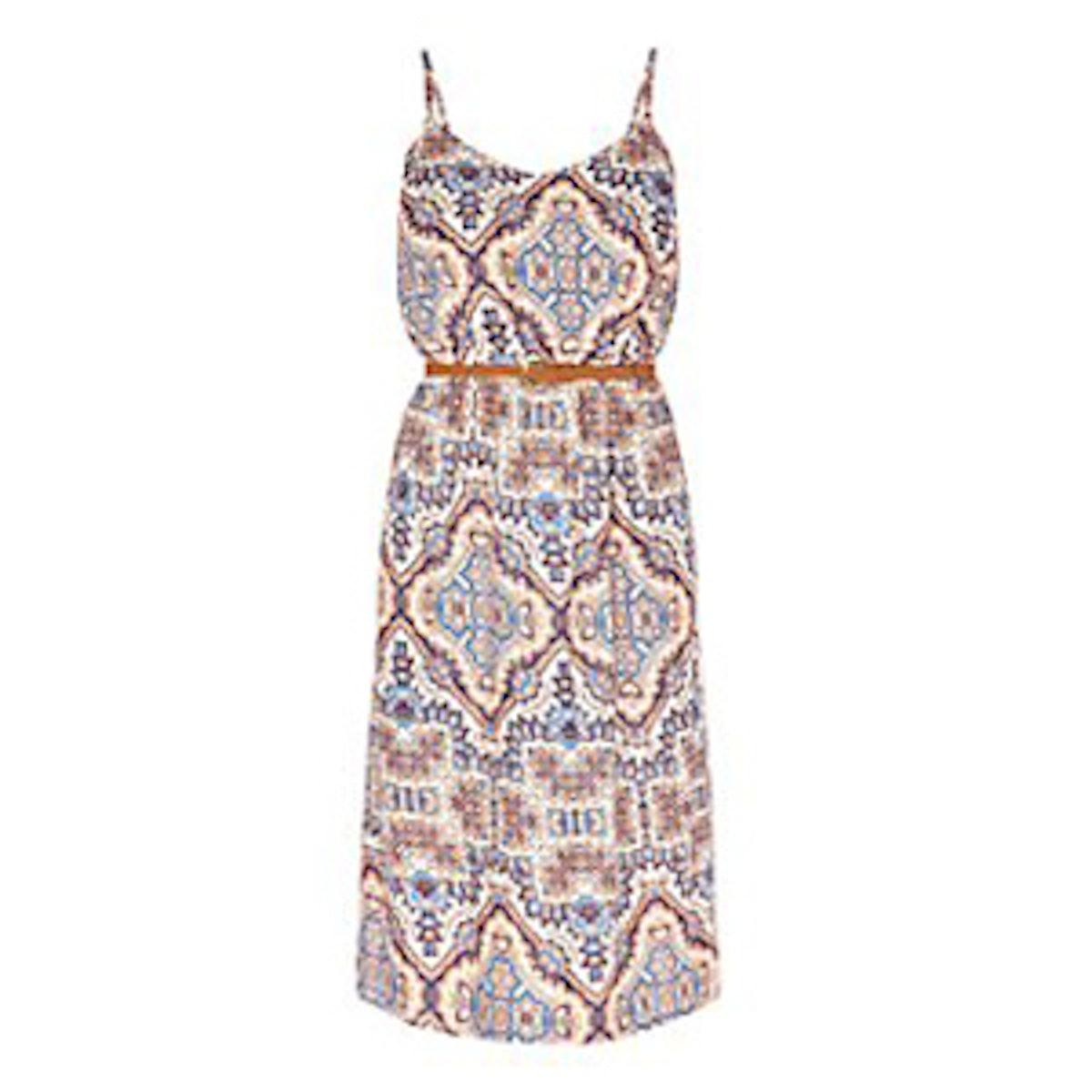 Floral Tile Midi Dress