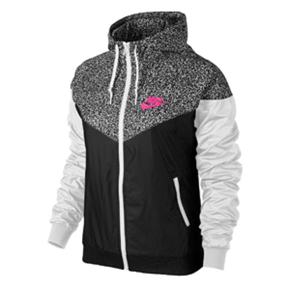 Printed Windrunner in Hyper Pink