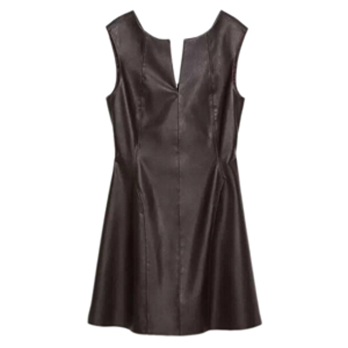 Brown Leather Dress
