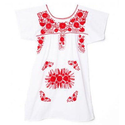 Bazaar Red and White Tunic