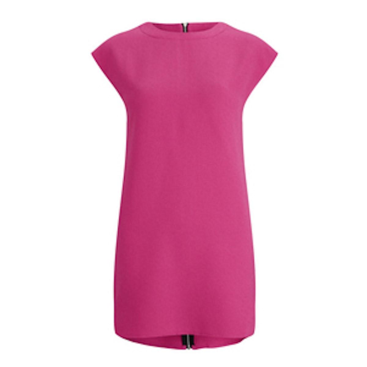 Neon Rose Shift Dress