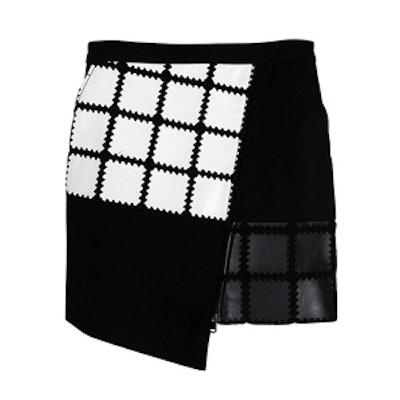 Leather Crochet Skirt