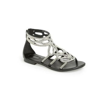 Fusion Beaded Leather Sandal