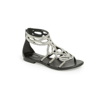 Fusion Beaded Leather Sandal