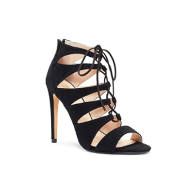 Lace-Up Sandal in Navy