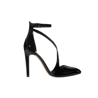 Court Shoe with Assymetric Strap