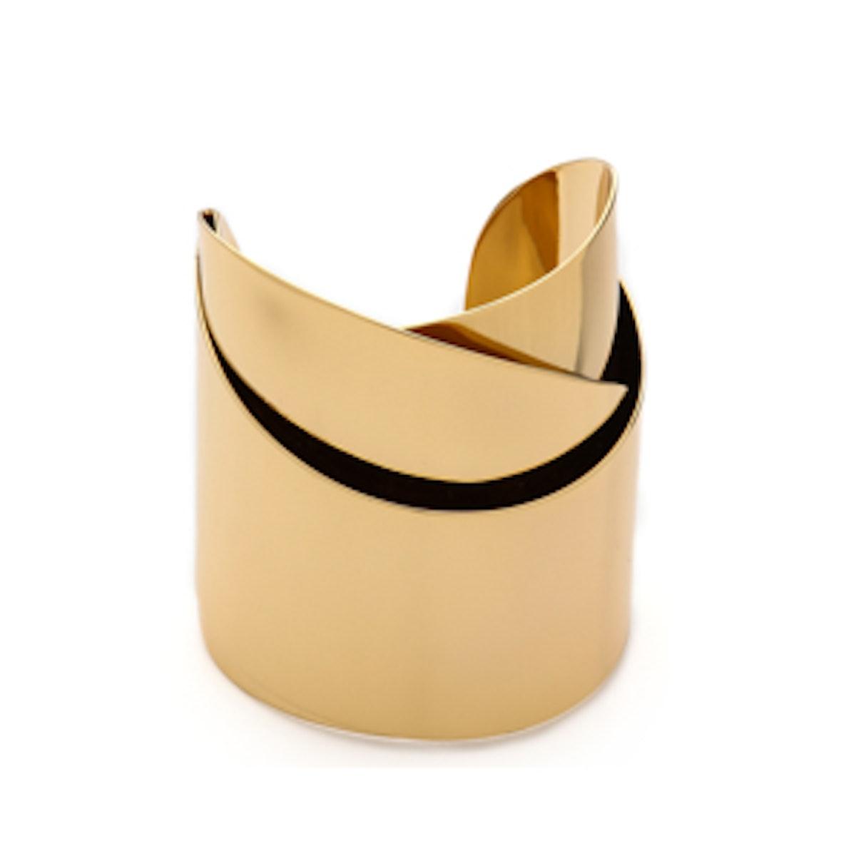 Geometric Ribbon Cuff Bracelet