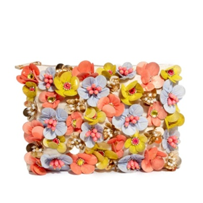 Clutch Bag with Neon Flowers