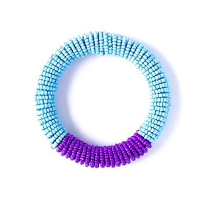 Colorblock Bracelet in Orchid and Blue
