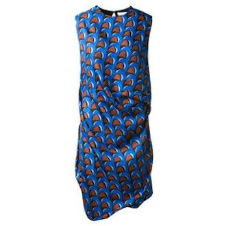 Wave Print Knot Dress