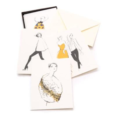 Fashion Girls Greeting Card Set