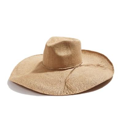 Neutral Straw Tie Hat