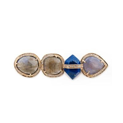 Labradorite, Lapis & Sapphire Knuckle Ring