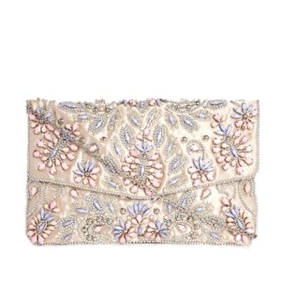 Pastel Embellished Envelope Clutch