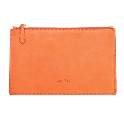 Signature Pouch in Papaya
