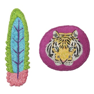 Tiger & Feather Patch Set