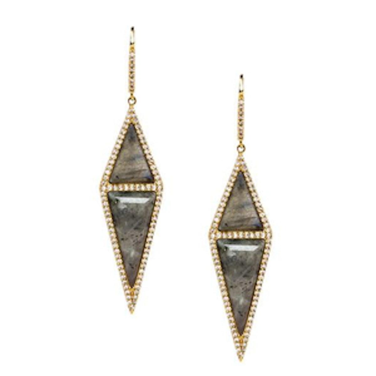 Pave Stone Diamond Earrings