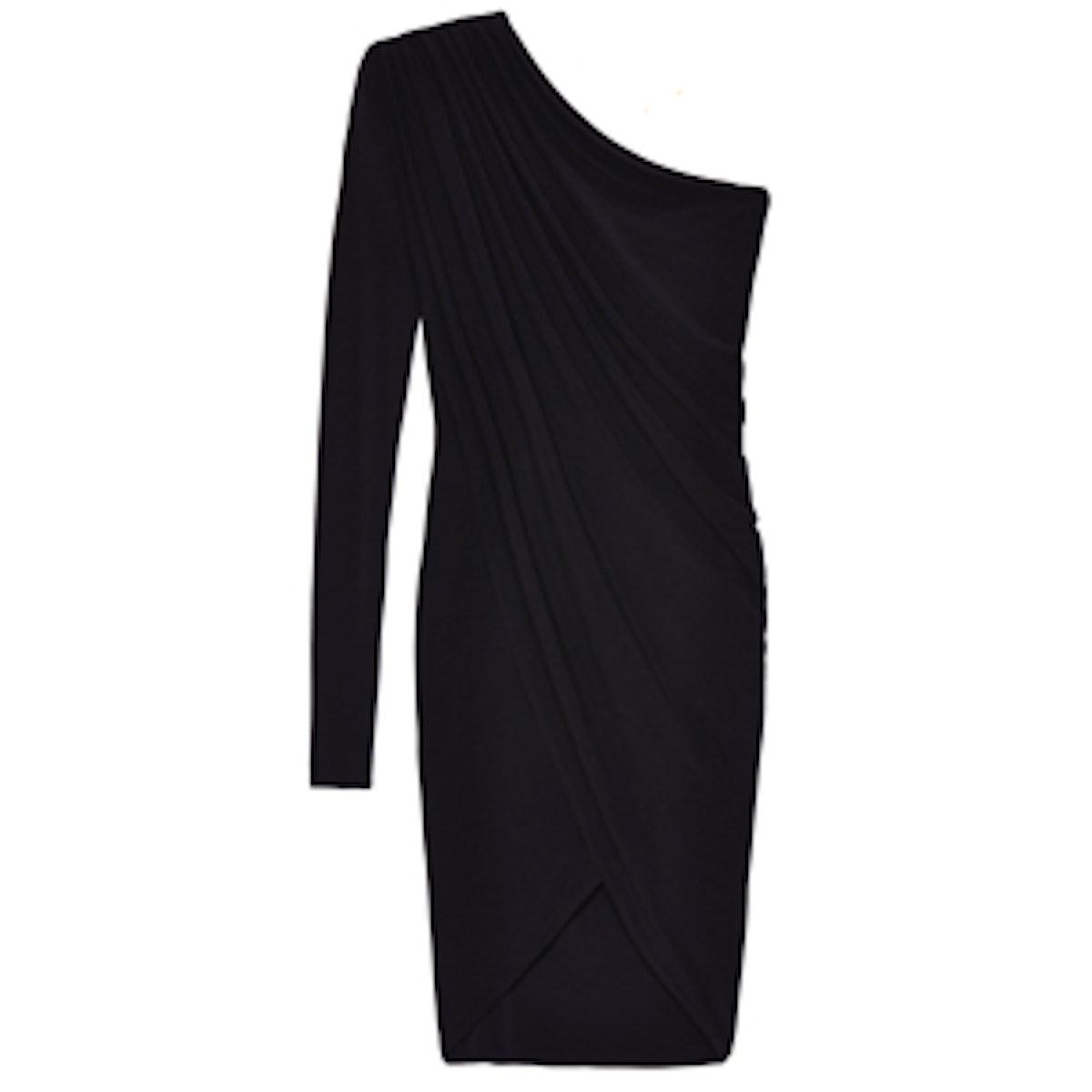 One Sleeve Draped Dress