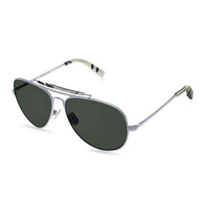 10-01 Polarized Sunglasses in Jet Silver