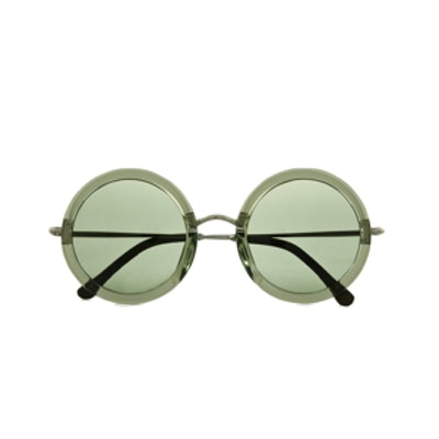 Leather Trimmed Sunglasses