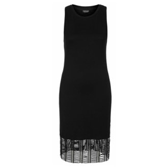 Fishnet Hem Bodycon Dress