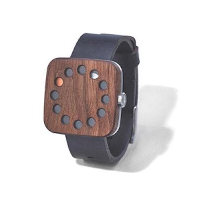 Square Walnut Watch