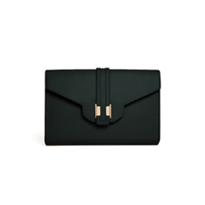 Front Strap Clutch Bag with Metal Tab