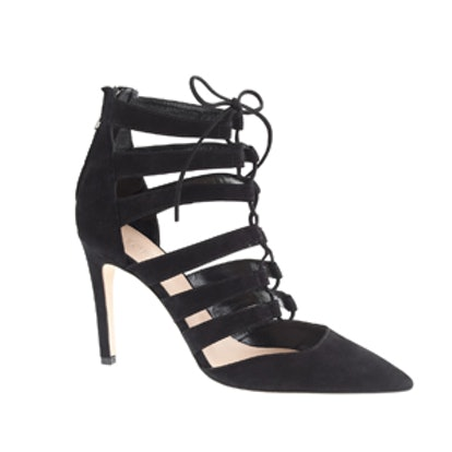 Suede Lace Up Pump