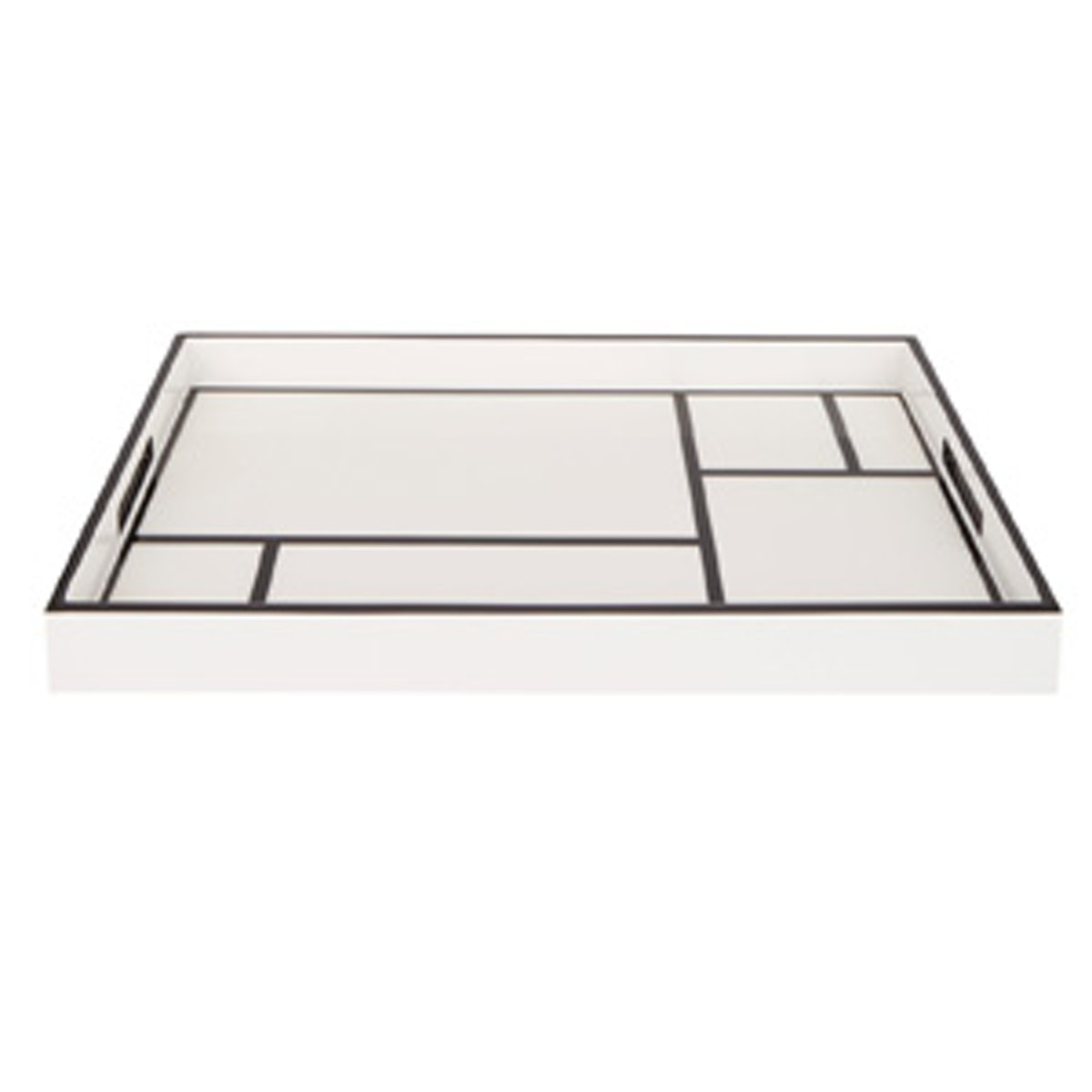 Lacquer Grid Breakfast Tray